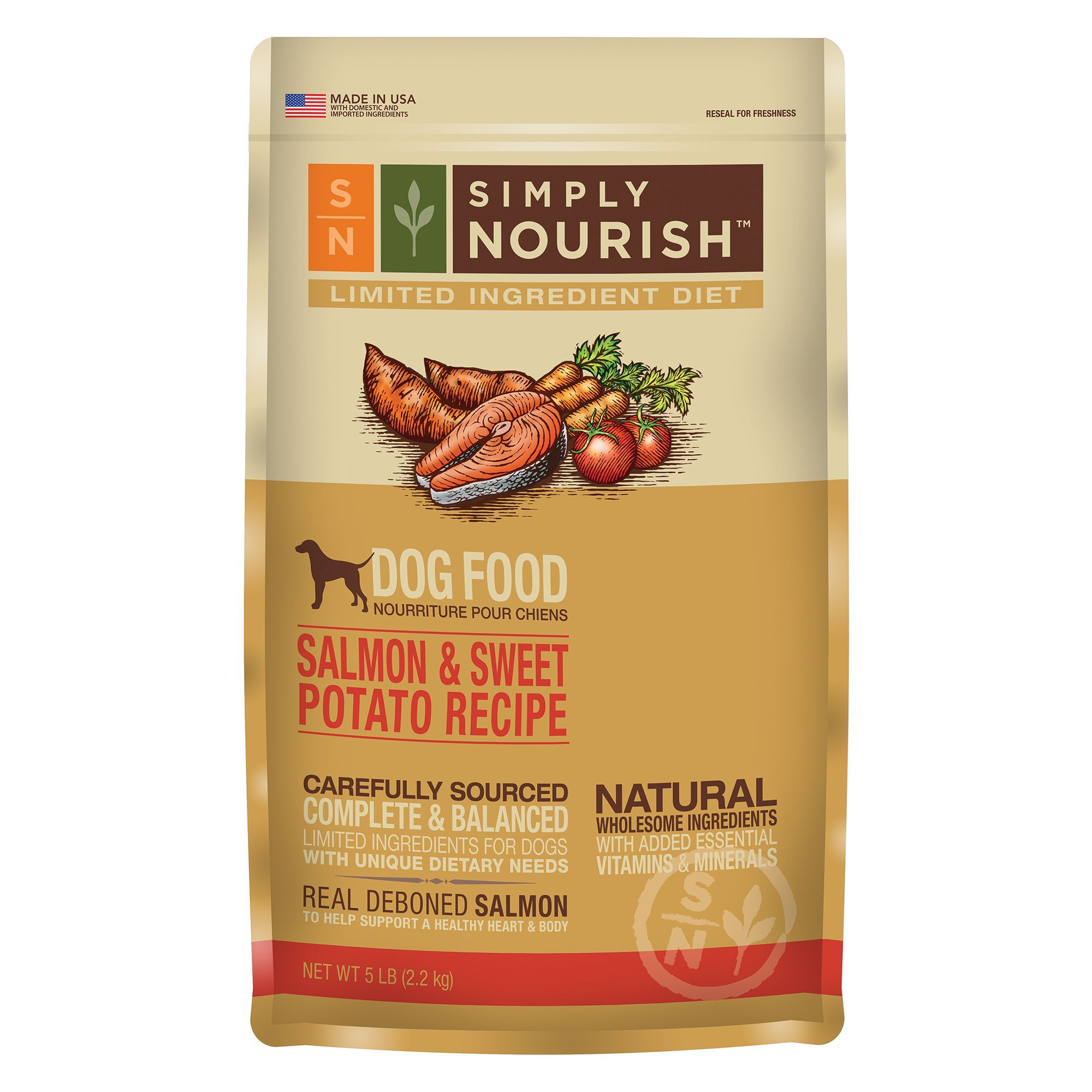 Simply Nourish Limited Ingredient Diet Dog Food Natural Salmon