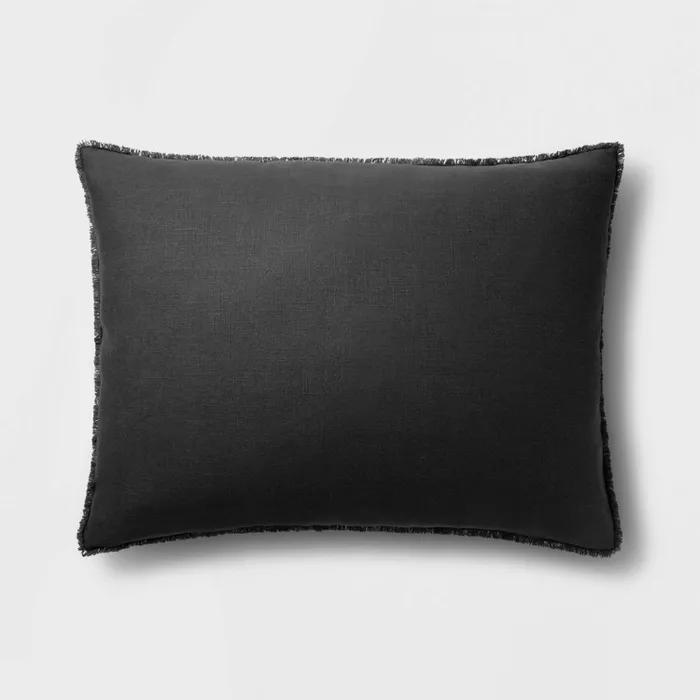 Heavyweight Linen Blend King Euro Throw Pillow Casaluna In 2020 Euro Throw Pillows Throw Pillows Large Decorative Throw Pillows