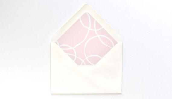 Blush Circles Envelope Liner Template  A Euro Flap  Diy