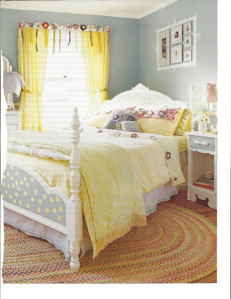 Adorable bedroom <3 | yellow, senf, messing, zitronengelb, honey ...