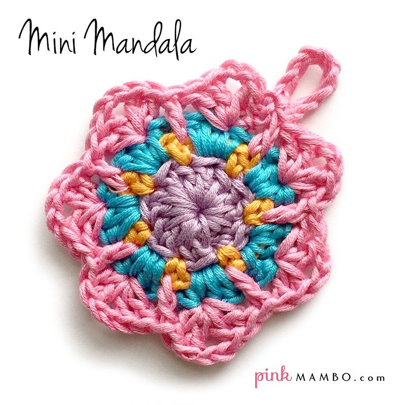 Mini Mandala Free Crochet Pattern from Pink Mambo | Free Crochet ...