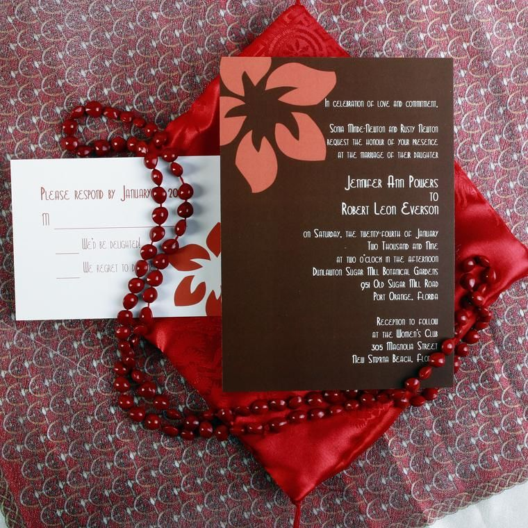 Brown \ Coral flower \creative Inspiration Pinterest Wedding - best of invitation cards for wedding price