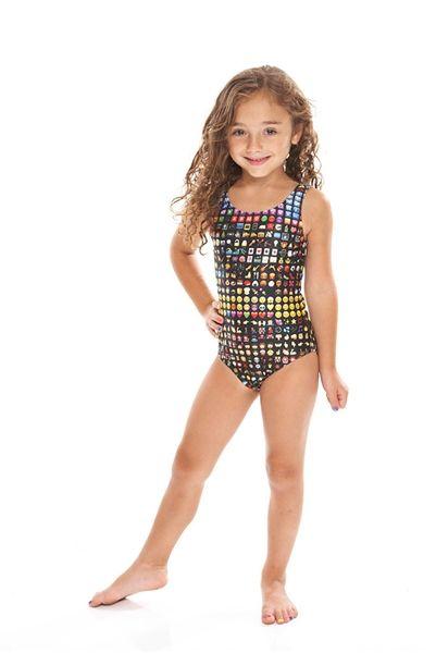 Terez Kids Emoji Speedo Swim Pinterest Emoji Girl Fashion