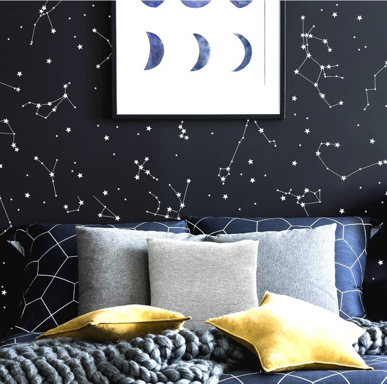 Constellation Wall Decals Kids Room Decor Constellation Star Map Constellation Decals Zodiac Constellations Wall Art Boy Nursery Decor Constellation Wall Decal Constellation Wall Art Constellation Decal