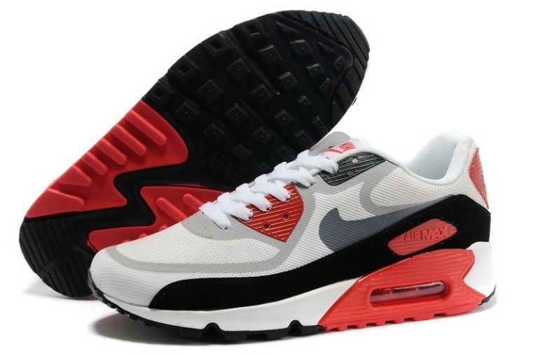 Cheap Discount Nike Air Max 90 Red Grey Shoes on sale, professional supply  all newest cheap nike 90 air max with top quality.