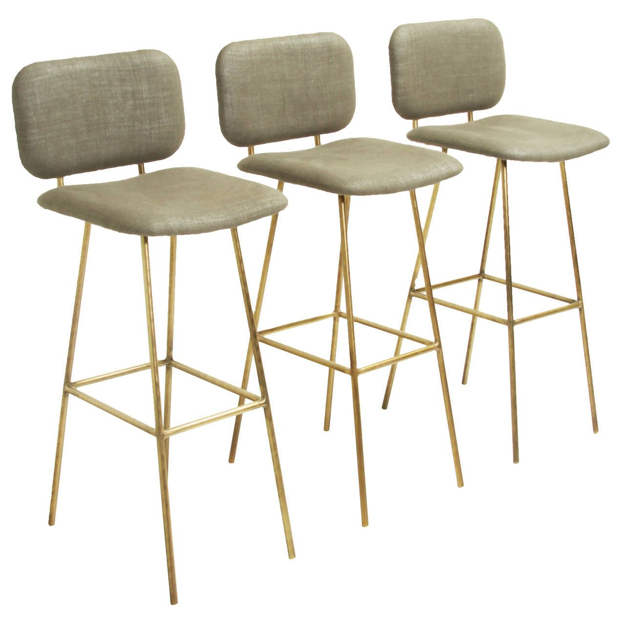 petra stool in brass  petra bar stool and stools - petra stool in brass