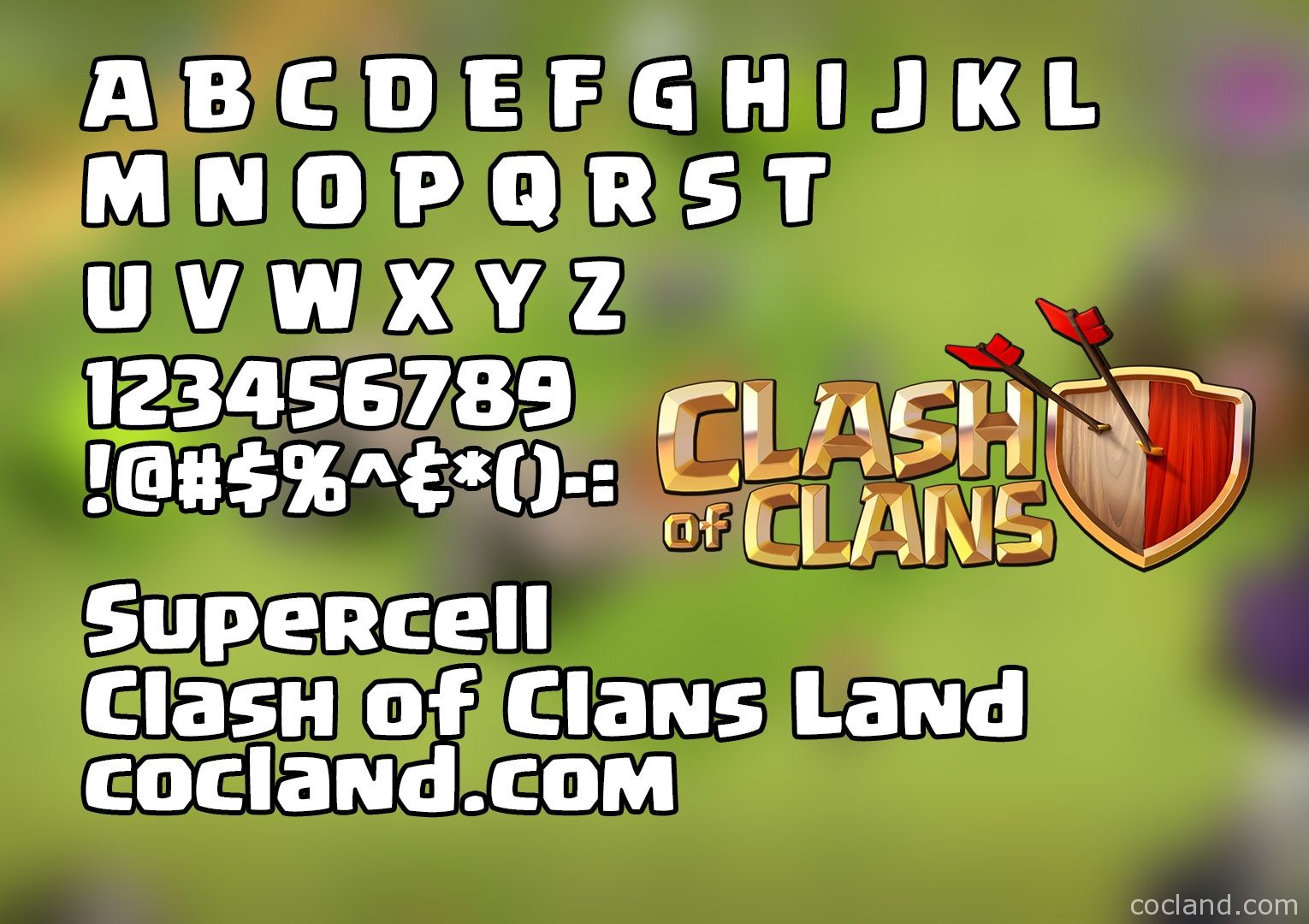Download Clash of Clans Font