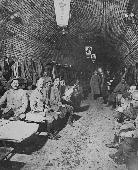 Battle so bloody men called it the meat grinder the battle of french soldiers are pictured sheltering in the underground bunkers at verdun france publicscrutiny Image collections