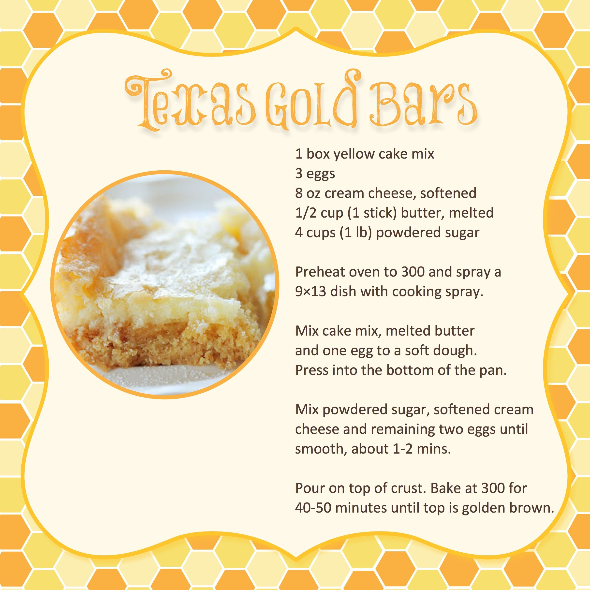 "Great easy dessert recipe for Girls Night Out Gatherings or Covered Dish Events...AND it's printable too.  Just print the image and trim to find an 8"" x 8"" page perfect for a recipe book formed by using an empty scrapbook."