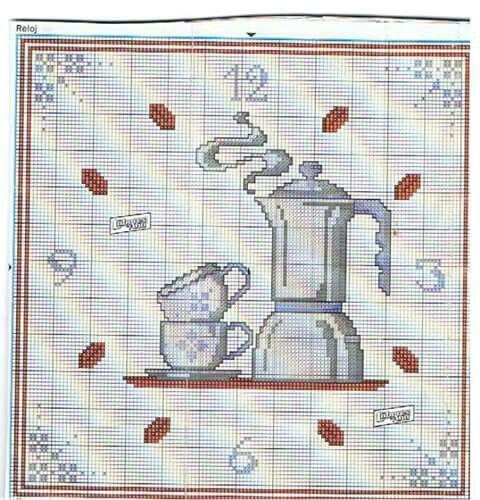 orologio all uncinetto orologio pausa caffe 39 orologi punto croce relojes