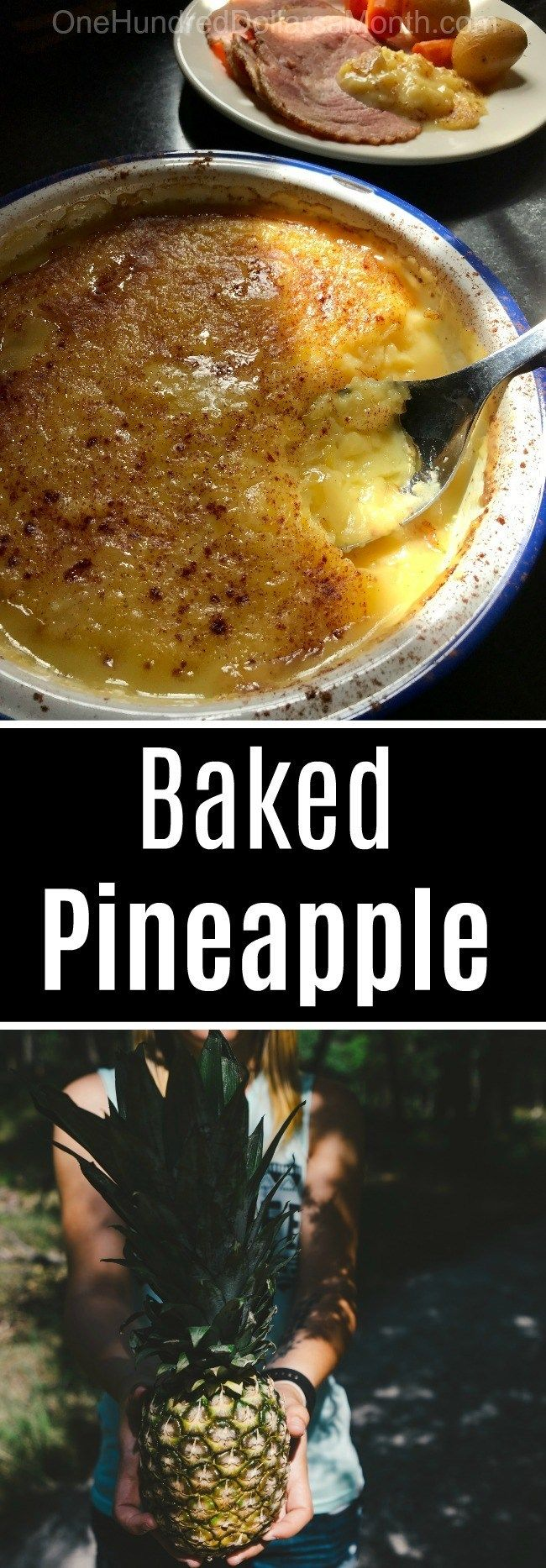 Baked Pineapple Custard Recipe #chickensidedishes