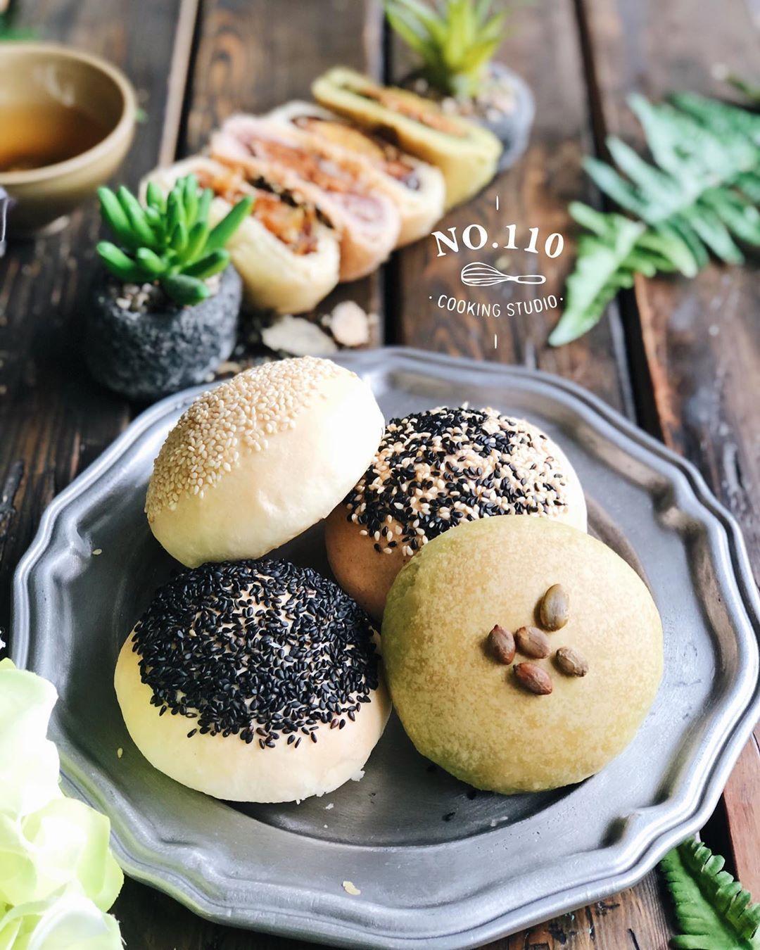 . 四色3Q餅  #no110cookingstudio #110食驗室 #taipei #bakingstudio #baking #handmade #delicious #bread #cake #cookies #cooking  #foodphotography #VSCO