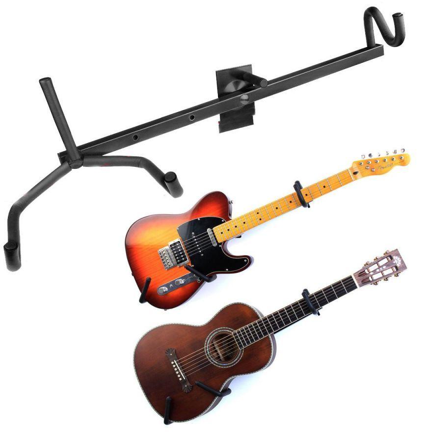 how to hang guitar on wall at angle