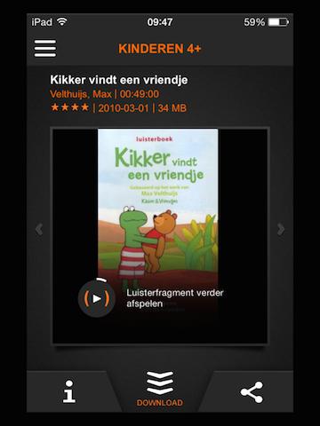 LuisterBoeken App voor de vakantie van de Bieb met allemaal luisterboeken.