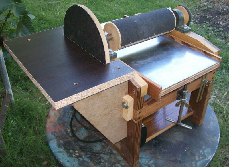 Mini lijadora combinada tambor disco homemade thickness - Lijadora para madera ...