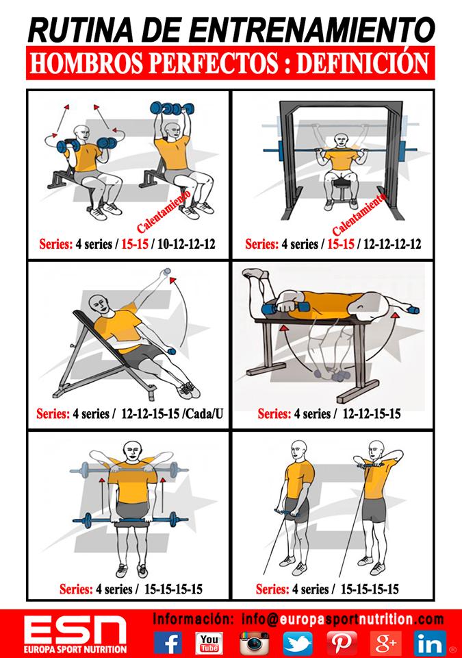 Rutina volumen hombros y piernas