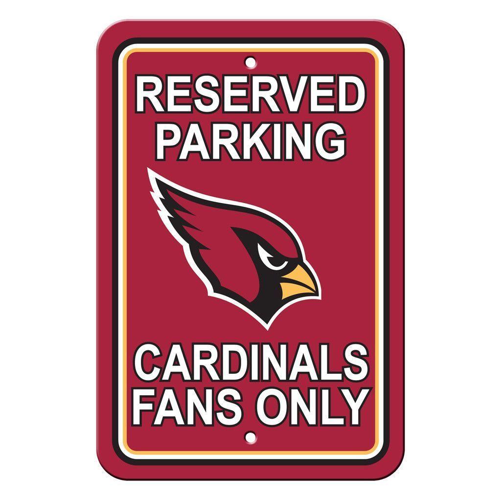 Arizona cardinals reserved parking sign reserved parking