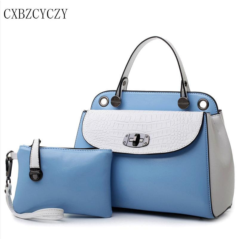 Ladies girls fashion  messenger bag leather Crocodile Bag Shoulder Bag Handbag