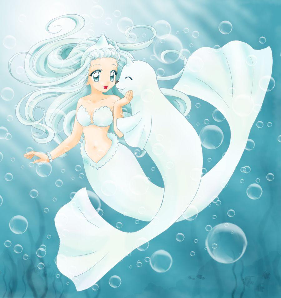 Anime Mermaid With A Cute Sea Thing Aka A Dewdong 90 S Kid S