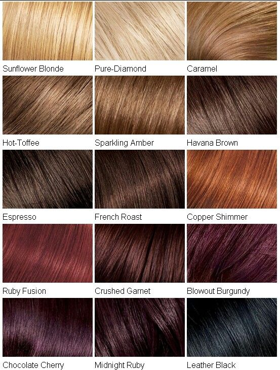 Hair Colour Chart Hair Color Chart Hair Color Dark Red Hair Color Chart