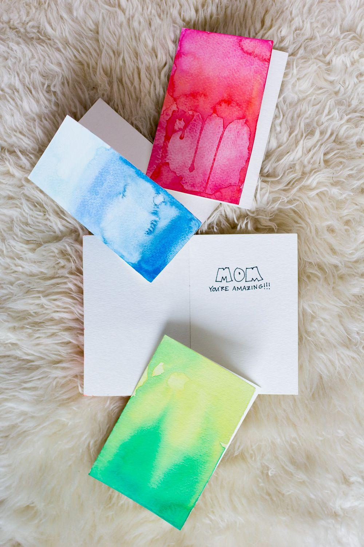 Diy watercolor greeting cards wandeleur greeting cards