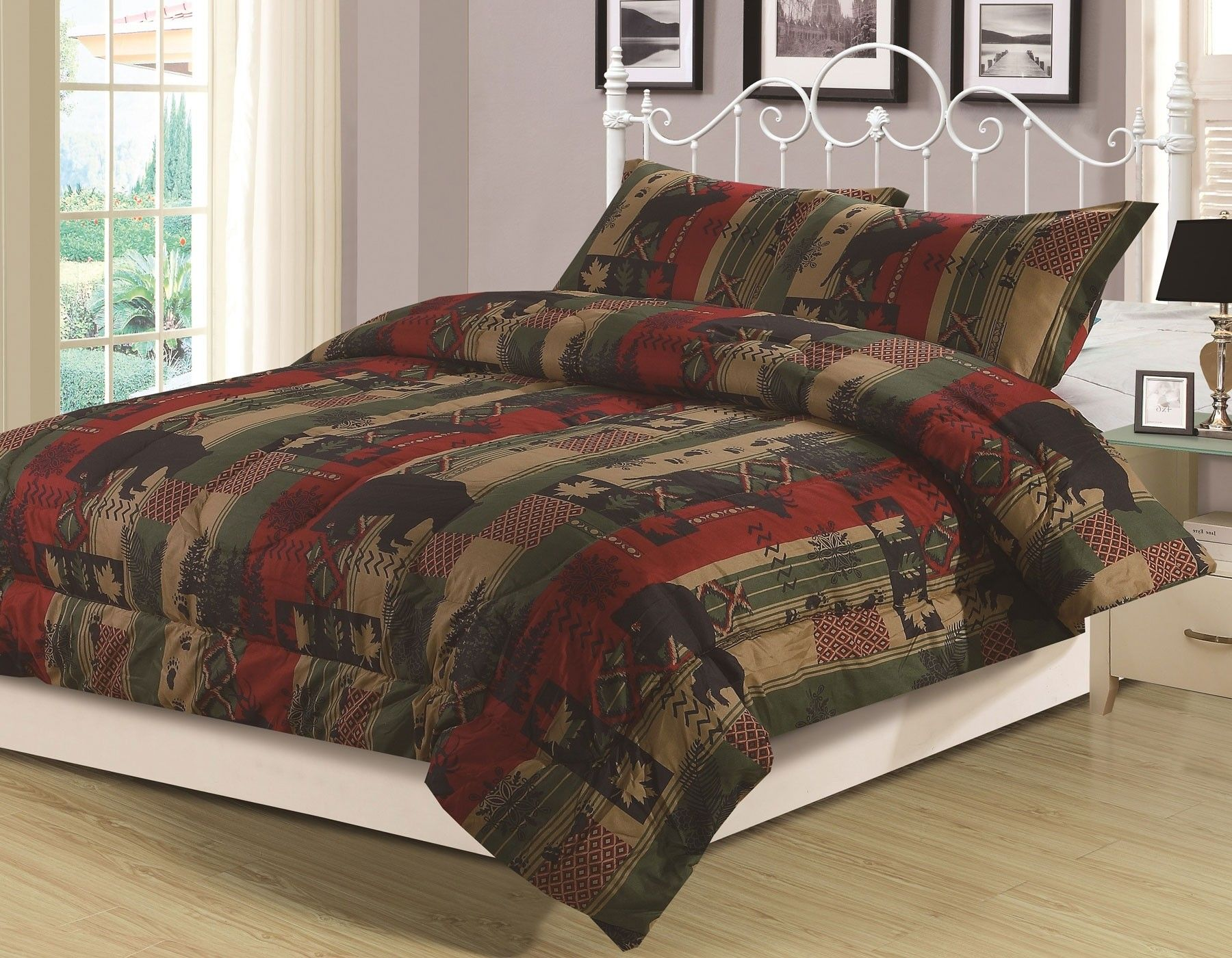 cabin rustic cabins laural today overstock free comforters shipping bedding bath comforter product home