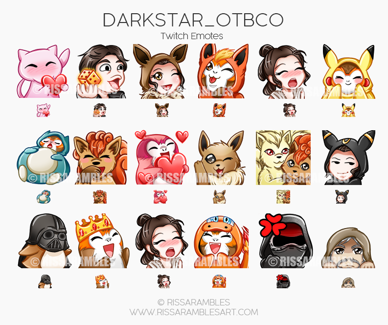 Custom Twitch Emotes Twitch Emotes Artist Rissarambles Our Gigs Is Focus In Quality Because We Believe Quality Is An Investm Twitch Pokemon Cosplay Artist