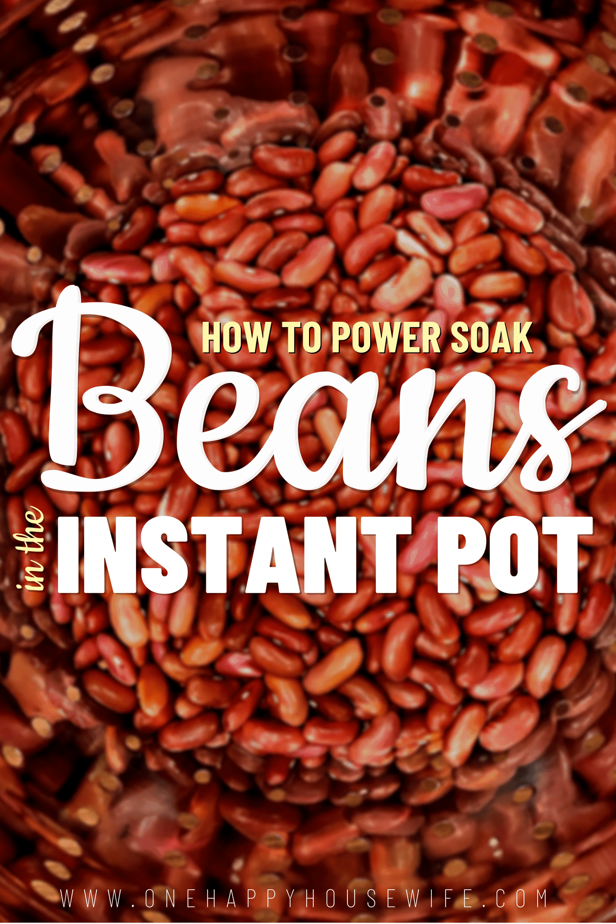 Power Soaking Red Kidney Beans The absolute fastest way to soak beans! Learn how to power soak red kidney beans in the Instant Pot. Visit the website to learn more. via @onehappyhousewife