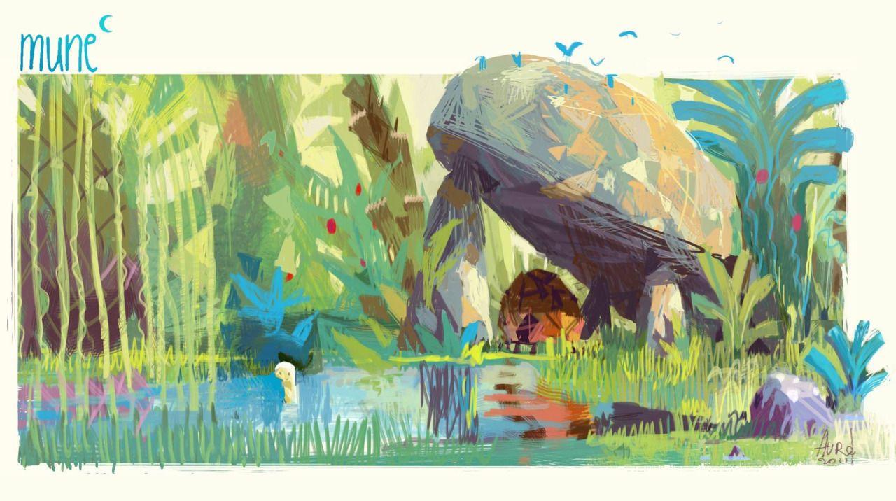 "ca-tsuka:  Concept designs by Aurelien Predal for ""Mune"" movie (by Alexandre Heboyan & Benoît Phillipon)."