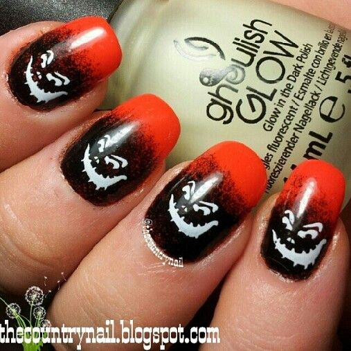 Halloween Themed Nail Art Instagram Photo By Thecountrynail