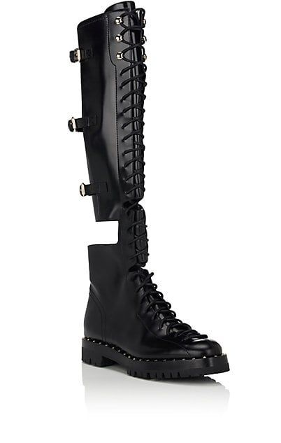 ValentinoGaravani Rockstud leather knee-high boots XFZNln5