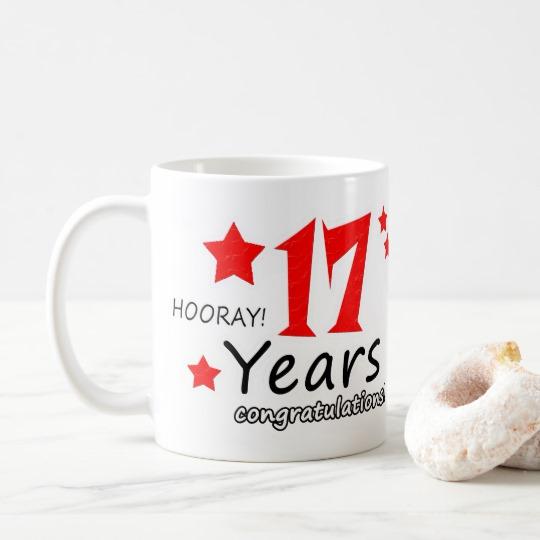 17th anniversary, 17 Years Wedding Anniversaries Coffee