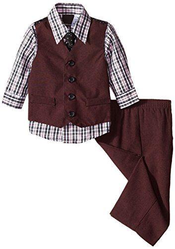 Van Heusen Baby Boys 4-Piece Patterned Dresswear Vest Set