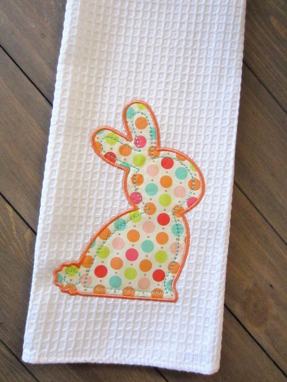 Easter Bunny Kitchen Towel | Stoffe | Pinterest | Easter, Kitchen ...