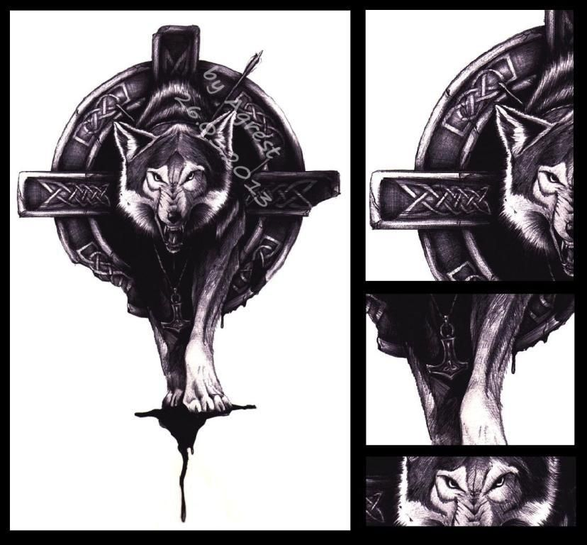 celtic wolf tattoo by agrestowata on deviantart mikes pinterest. Black Bedroom Furniture Sets. Home Design Ideas