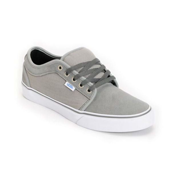 ade07227341 Vans Chukka Low Medium Grey   Ripstop Skate Shoe at Zumiez   PDP ...