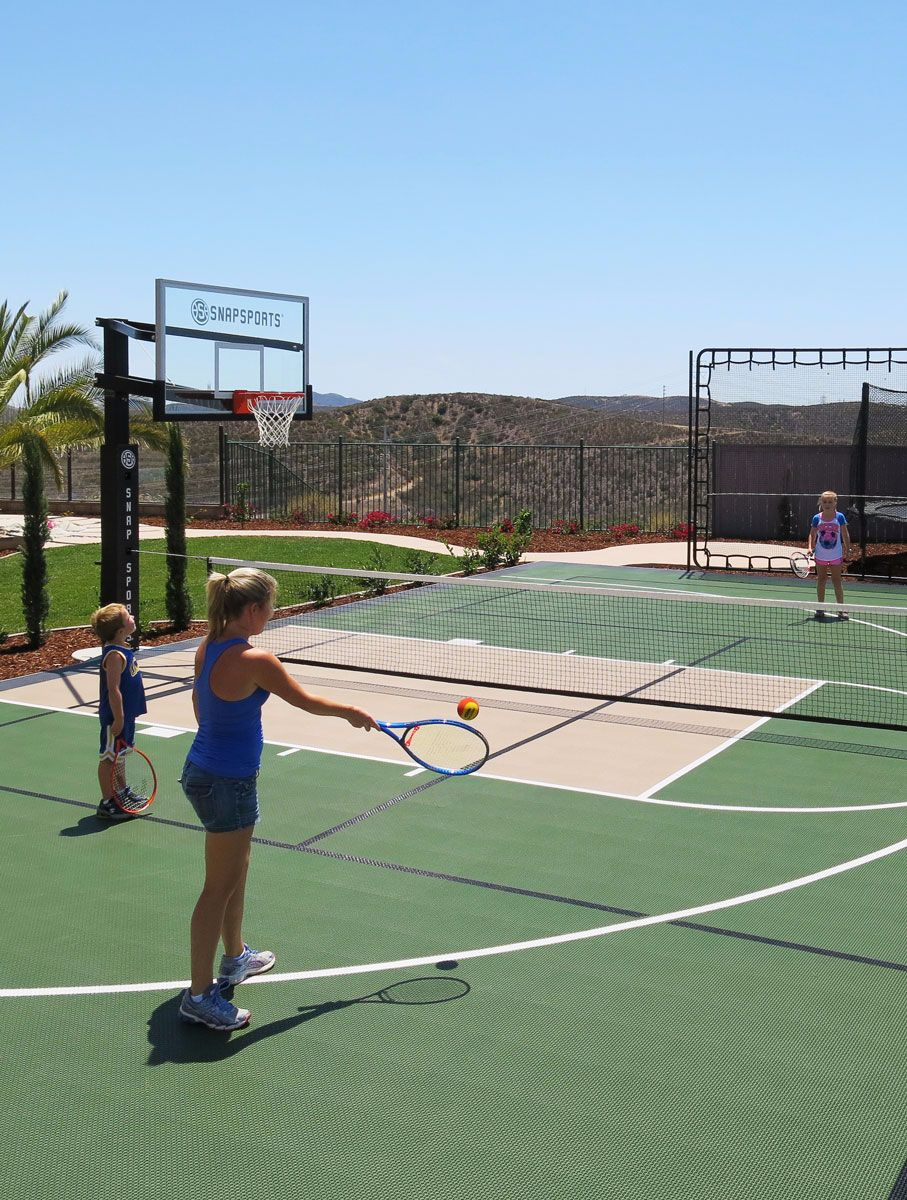 Residential Gallery Snapsports News Tennis Court Backyard Backyard Sports Backyard Court