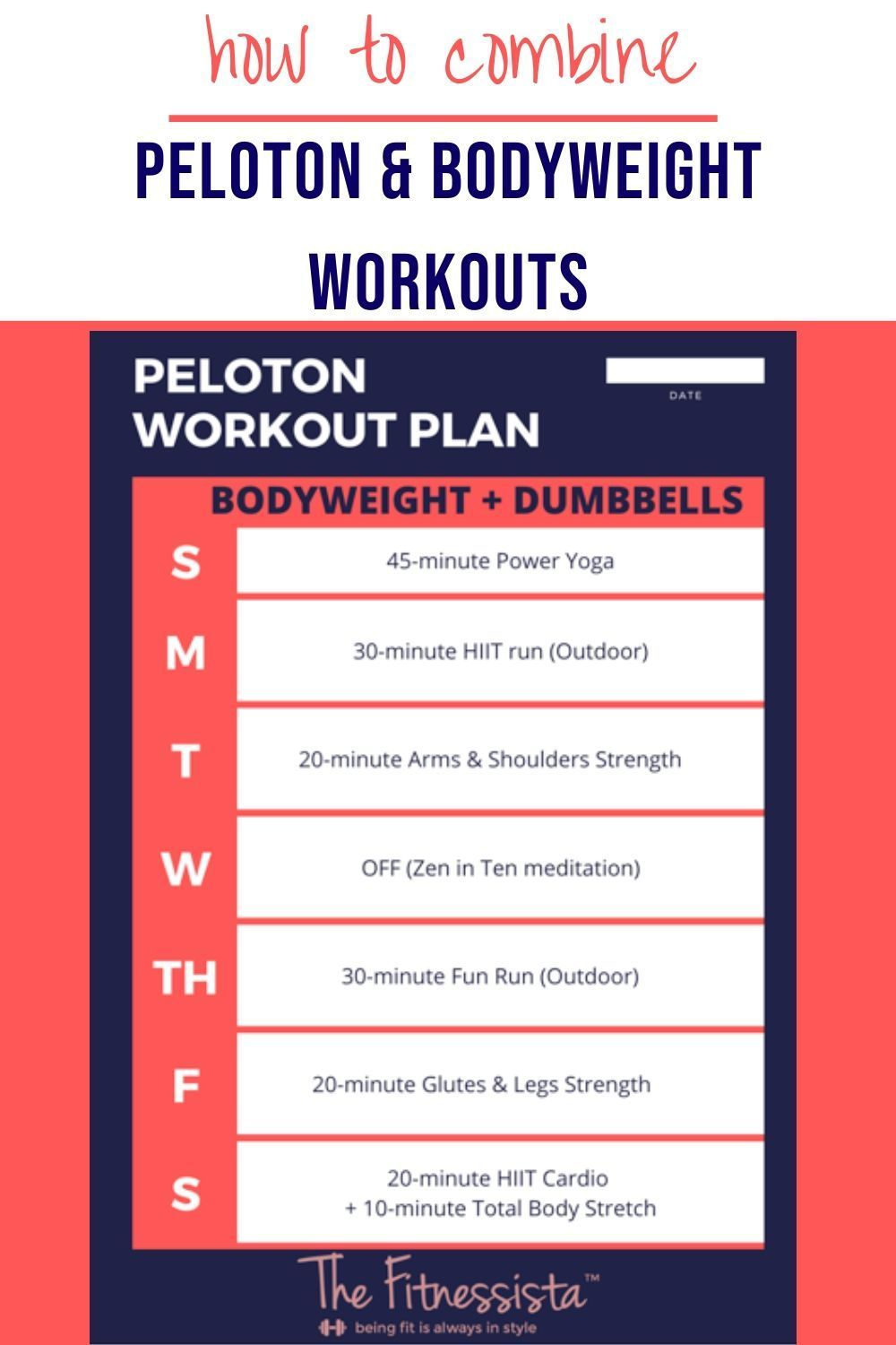 How to combine peloton workouts even if you dont have the