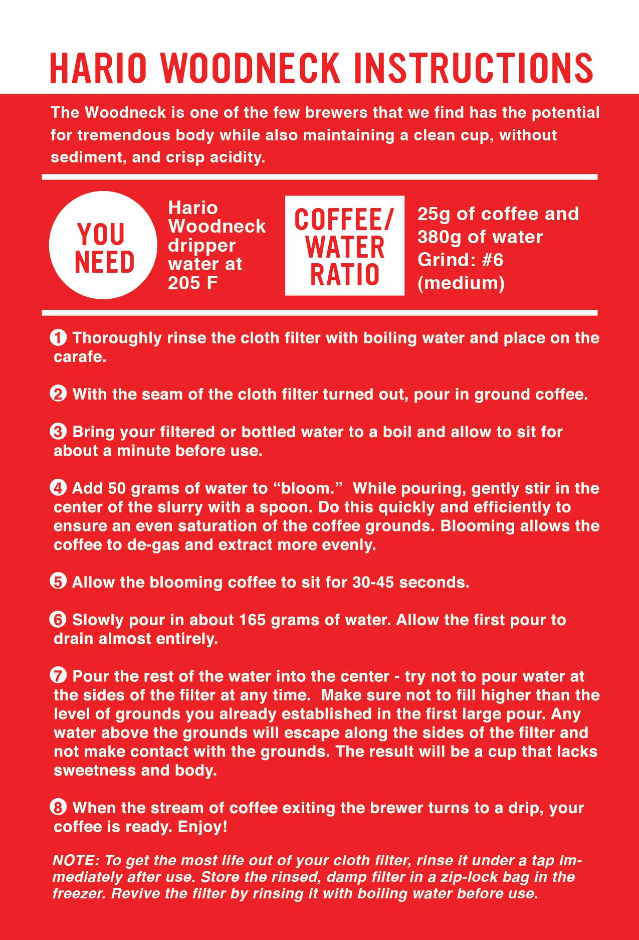 Hario woodneck coffee drip pot - Hario Woodneck Coffee Brewing Guide