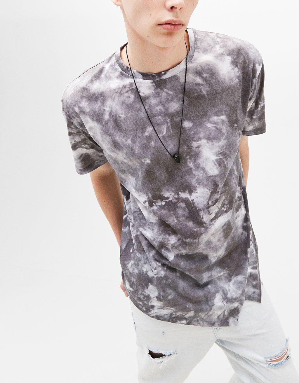 Textured T-shirt - T-Shirts - Bershka Poland