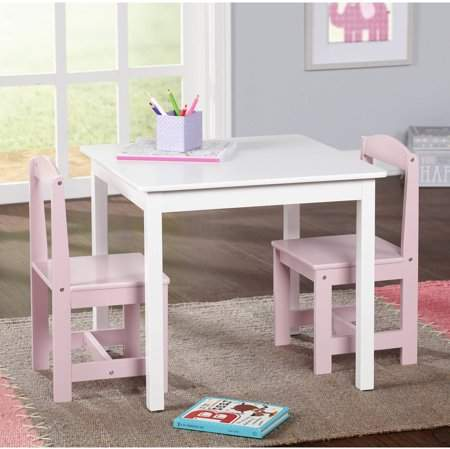 Tms Hayden Kids 3 Piece Table And Chair Set Multiple Colors Walmart Com Small Table And Chairs Kids Table And Chairs Table And Chair Sets