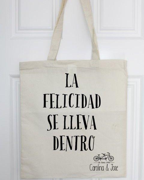 c7cf5b5cd Bolsa de tela personalizada Bolsas De Tela Ecologicas, Bolsas Boda, Bolsos  De Diseño,