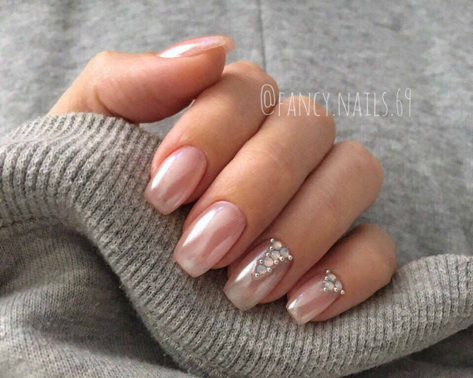 Mirror Nail Glitter Acrylic Nail Design For Summer Winter Spring ...