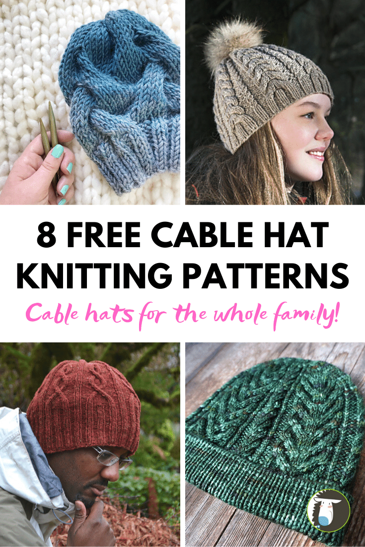8 Free Cable Hat Knitting Patterns Blog Nobleknits Knitting Patterns Free Hats Hat Knitting Patterns Cable Knit Hat Pattern