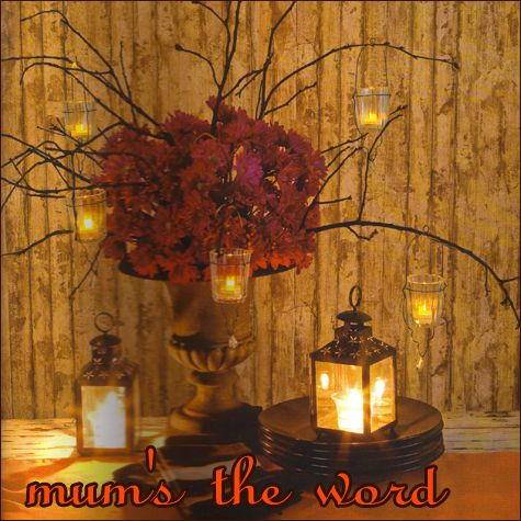 Centerpiece For Big Tables With Gold Table Cloth Take Mums And Place Them In The Liquor Bottles Paper Sacks Incorporate Jazz Sheet Music