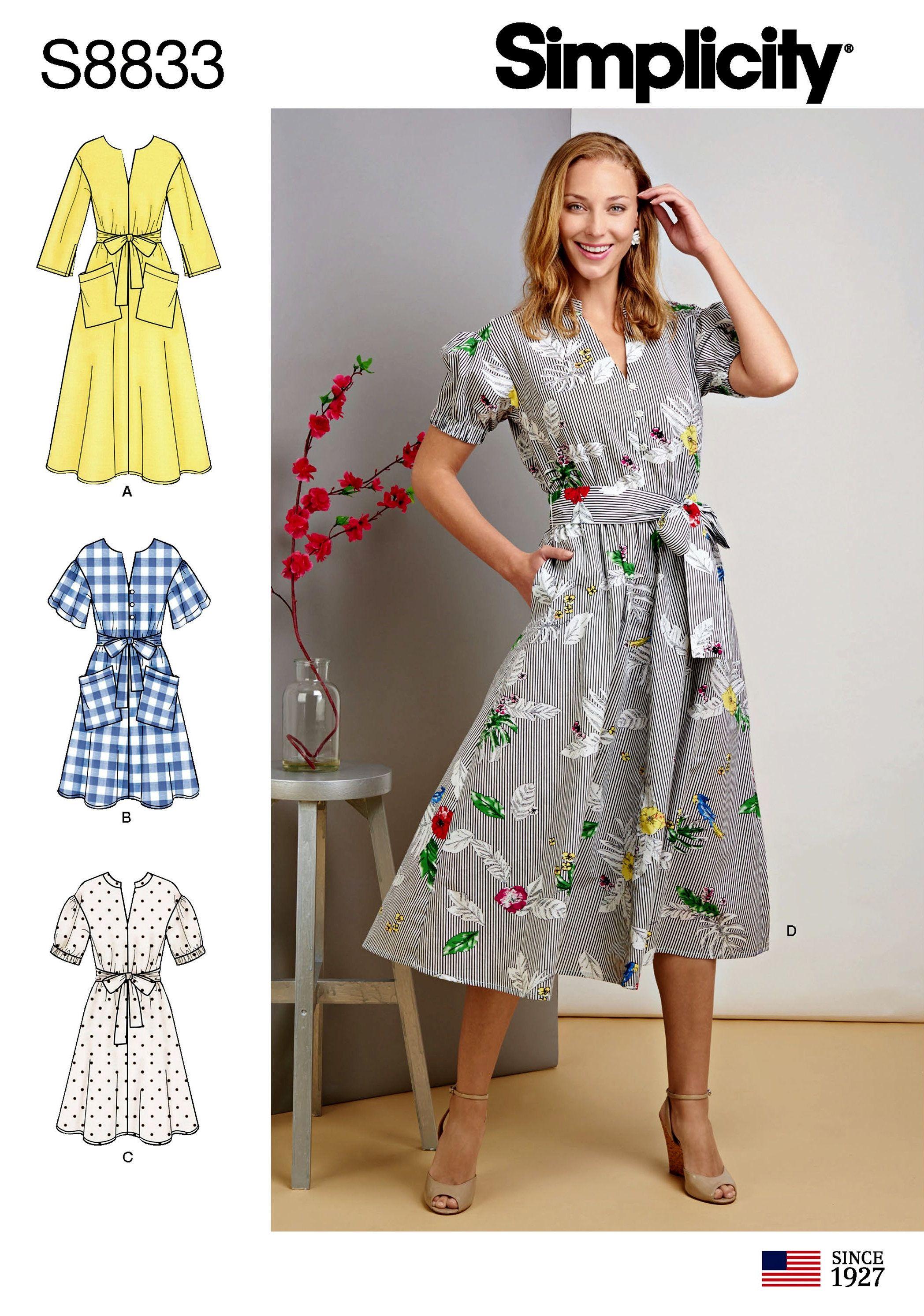 Sewing Pattern Misses Miss Petite Pullover Dress Pattern Etsy Pocket Dress Pattern Simplicity Patterns Dresses Shirt Dress Pattern [ 2985 x 2096 Pixel ]