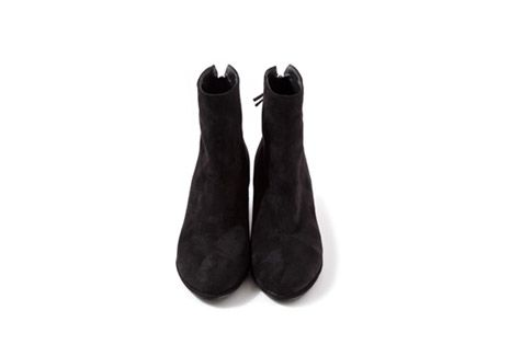 Suede Low Heeled Ankle Boots