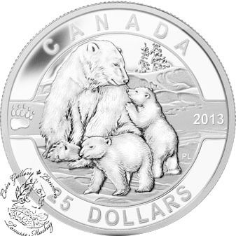 Canada 2013 25 The Polar Bear O Canada Series 1 Oz Pure Silver Coin Silver Coins Mint Coins Coin Art