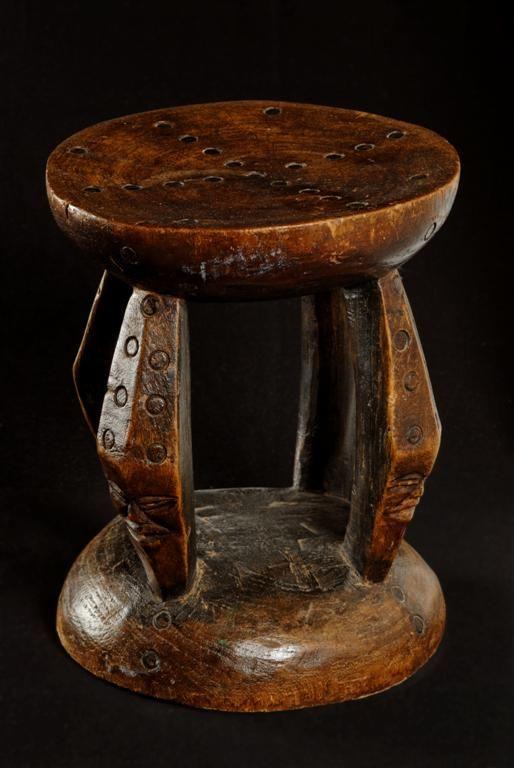 Siege Tabouret Lunda Chokwe Angola 207 Tabouret Meuble Rotin Art Africain