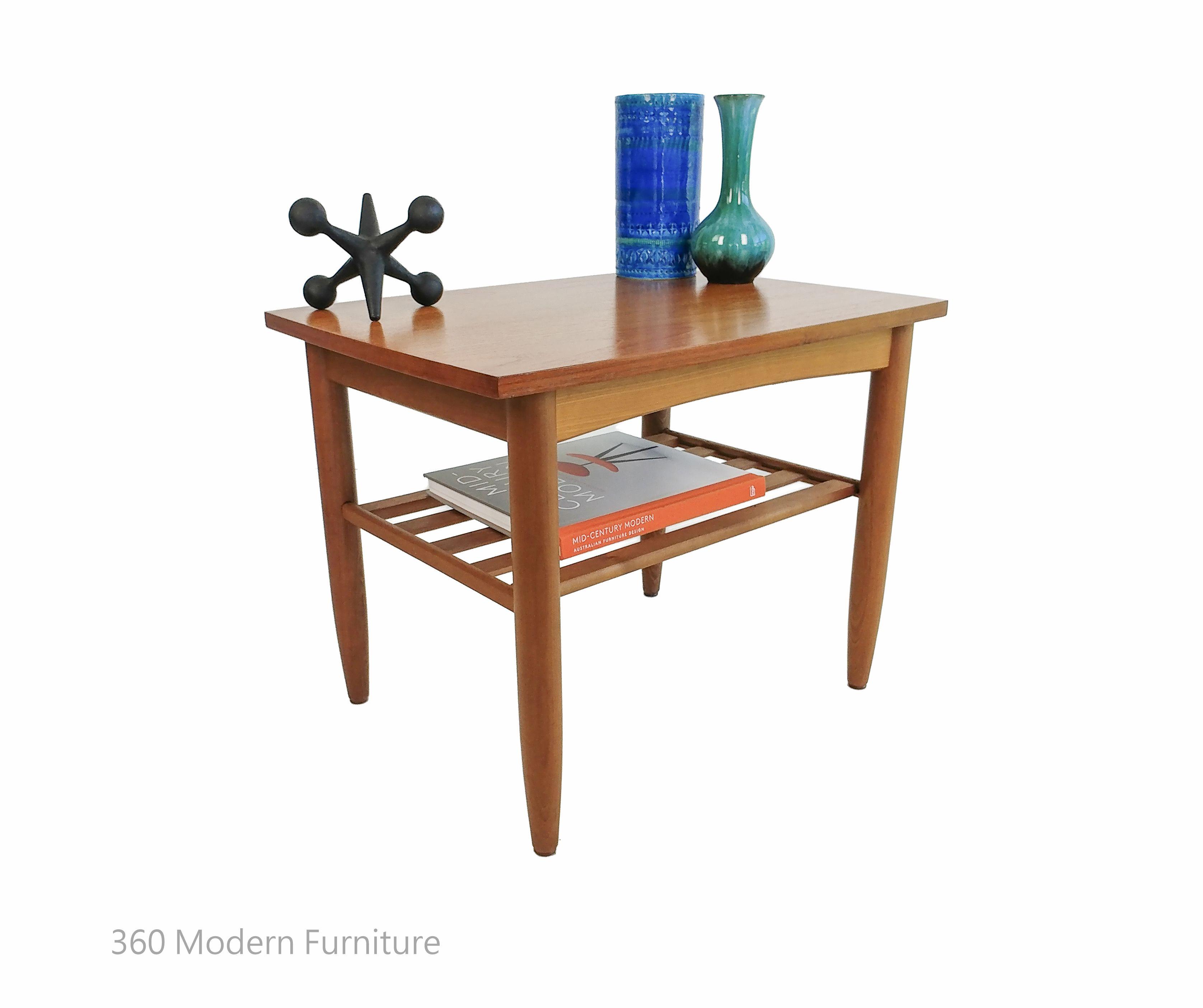 Mid Century Teak Side Coffee Table Magazine Rack Parker Eames Era 360 Modern Furniture Parker Furniture Coffee Table Magazine Furniture [ 2808 x 3352 Pixel ]